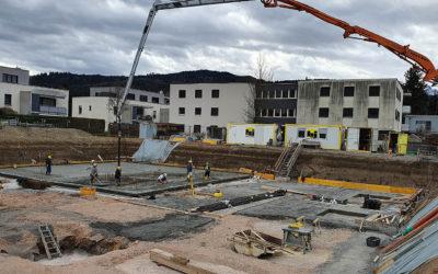 Baufortschritt März – Beim Mühlbach