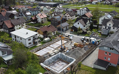 Baufortschritt April RH Gartenstrasse