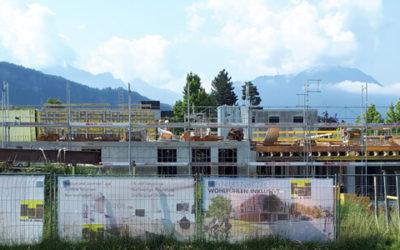 Baufortschritt Juli – Beim Mühlbach