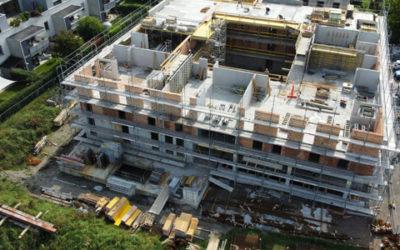 Baufortschritt September- Beim Mühlbach